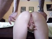 Cute amateur chick convinced to do anal fucking
